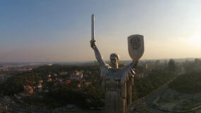 The Motherland Monument, Ukraine stock video footage