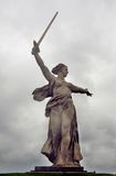 Motherland statue. Front view. Royalty Free Stock Images