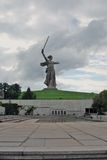 Motherland statue. Royalty Free Stock Photo