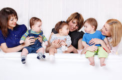 Mothers with babies Royalty Free Stock Photography