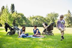 Mothers With Children Enjoying Picnic Stock Photography