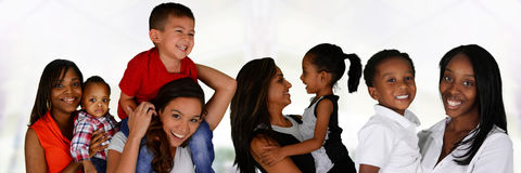 Mothers With Children. Group of young mothers with their children Royalty Free Stock Photos