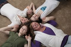 Mothers and daughters Stock Photography