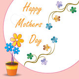 Mothers day. Illustration of mothers day greetings Stock Photos