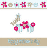 Mothers day. Greeting card vector illustration Royalty Free Stock Image