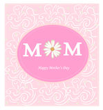 Mothers day. Template pink illustration Royalty Free Stock Images