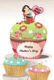 Mothers day. A vector illustration of Mothers day greeting card Stock Image