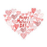 Mothers day background. With abstract heart, design element Stock Images