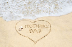 Mothers day background on the beach Royalty Free Stock Photo