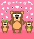 Mothers day background with bears Royalty Free Stock Images