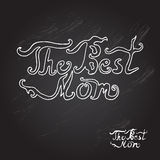 Mothers day background. Mothers day chalkboard background with The Best Mom words, design element Stock Images