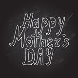 Mothers day background. Mothers day chalkboard background with Happy Mothers day words, design element Royalty Free Stock Images