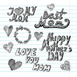 Mothers day background. Design element Royalty Free Stock Photos