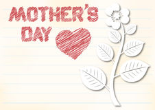 Mothers day background. Mothers day greeting card with pencilled text and place for text Stock Photo