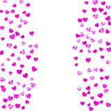 Mothers day background with pink glitter confetti. Isolated hear. Mother`s day background with pink glitter confetti. Isolated heart symbol in rose color Royalty Free Stock Photo