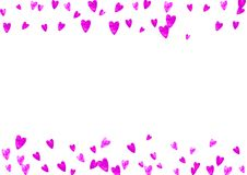 Mothers day background with pink glitter confetti. Isolated hear. Mother`s day background with pink glitter confetti. Isolated heart symbol in rose color vector illustration