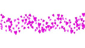 Mothers day background with pink glitter confetti. Isolated hear. T symbol in rose color. Postcard for mothers day background. Love theme for gift coupons vector illustration
