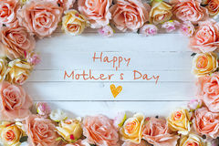 Mothers day background with rose flowers. Mothers Day message wi royalty free stock photos