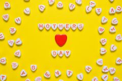 Mothers Day background. With small hearts stock photos