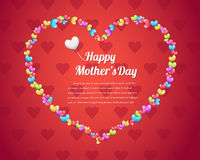 Mothers Day background vector. Sweet Heart Mothers Day design Royalty Free Stock Image