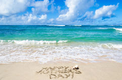 Mothers day on the beach background Royalty Free Stock Photography