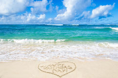 Mothers day on the beach background Stock Photos