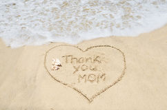 Mothers day on the beach background Stock Photography