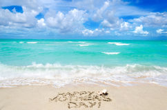 Mothers day on the beach background Stock Images