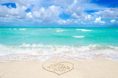 Mothers day on the beach background Royalty Free Stock Photos