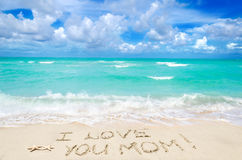 Mothers day on the beach background Royalty Free Stock Images