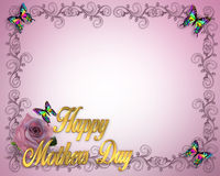 Mothers Day Border design Stock Photo