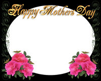 Mothers Day border frame on black royalty free stock photo