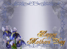 Mothers Day Border Iris Floral royalty free stock images