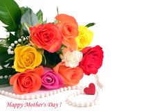 Mothers day. Bouquet of roses. Royalty Free Stock Photos