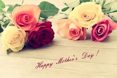 Mothers day. Bouquet of roses. Stock Photo