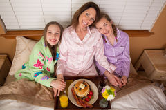 Mothers Day Breakfast in Bed Stock Image