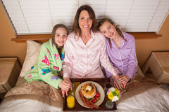 Mothers Day Breakfast in Bed Royalty Free Stock Image