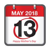 Mothers day calendar Royalty Free Stock Images