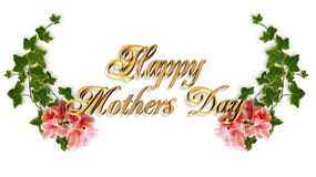 Mothers Day Card Royalty Free Stock Photos