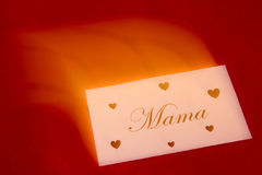 Mothers day. Card arriving at time Royalty Free Stock Image