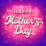 Mothers Day card with blurred hearts and sparkles. Stock Image