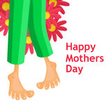 Mothers Day card with boy in pyjamas Stock Images