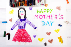 Mothers Day card Royalty Free Stock Images