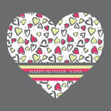 Mothers day card. Card design for the Mothers day Royalty Free Stock Photo