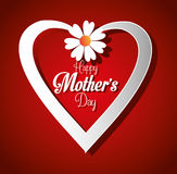 Mothers day card design, vector illustration. Stock Image