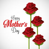 Mothers day card design, vector illustration. Royalty Free Stock Images