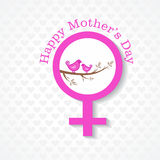 Mothers day card with face  with text Royalty Free Stock Image