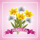 Mothers day card floral Stock Photo