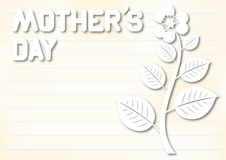 Mothers day card Stock Photography