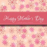Mothers Day card. Happy mothers day. Greeting card with flowers Stock Images